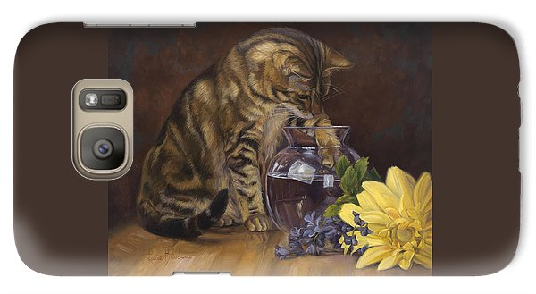 Paw In The Vase Galaxy S7 Case by Lucie Bilodeau
