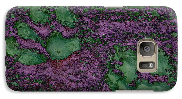 Paw Prints In Green And Mauve Galaxy S7 Case