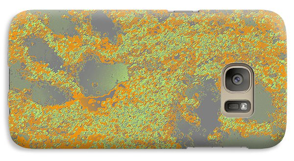 Paw Prints In Orange And Grey Galaxy S7 Case