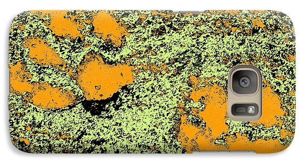 Paw Prints In Orange Lime And Black Galaxy S7 Case