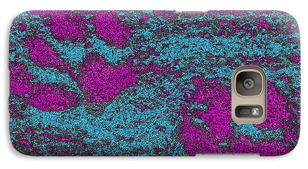 Paw Prints In Pink And Turquoise Galaxy S7 Case