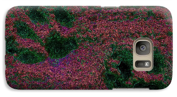 Paw Prints In Red And Green Galaxy S7 Case