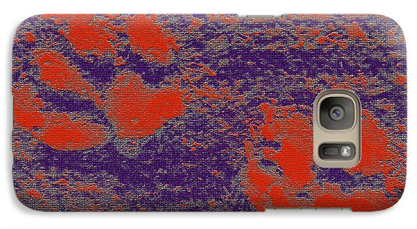Paw Prints In Red And Purple Galaxy S7 Case