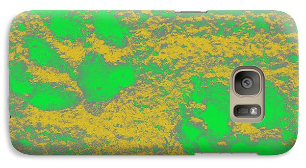 Paw Prints In Yellow And Lime Galaxy S7 Case