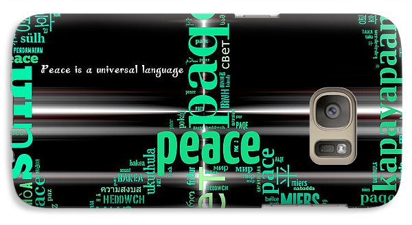 Galaxy Case featuring the digital art Peace Across The Universe by Barbara Giordano
