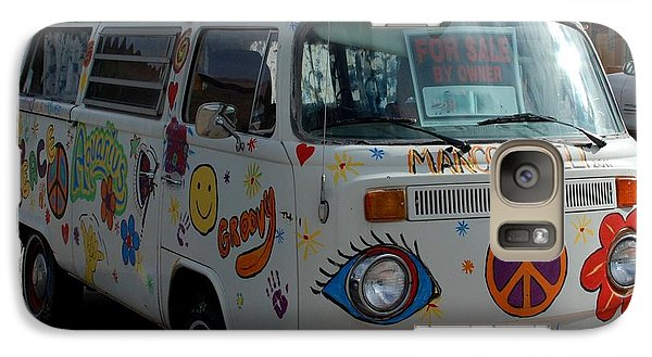 Galaxy Case featuring the photograph Peace And Love Van by Dany Lison