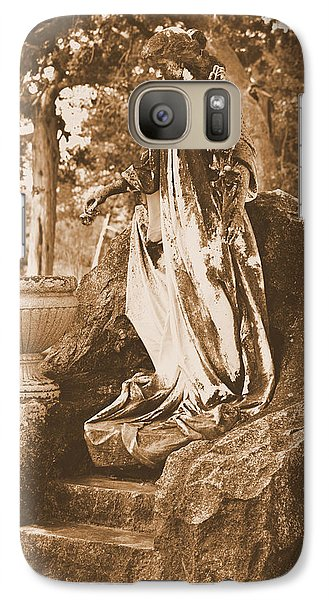 Galaxy Case featuring the photograph Peace Angel by Nadalyn Larsen