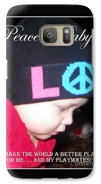 Galaxy Case featuring the photograph Peace Baby by Bobbee Rickard