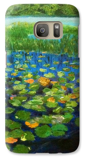 Galaxy Case featuring the painting Peace Be With You by Belinda Low