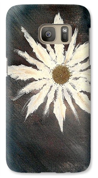 Galaxy Case featuring the painting Peace Flower by Jacqueline McReynolds