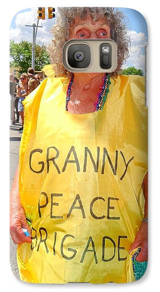 Galaxy Case featuring the photograph Peace Granny by Ed Weidman