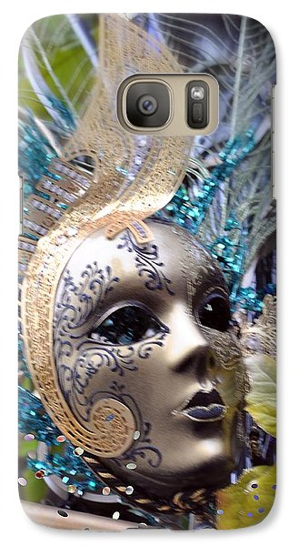 Galaxy Case featuring the photograph Peace In The Mask by Amanda Eberly-Kudamik