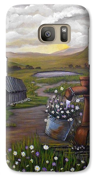 Galaxy Case featuring the painting Peace In The Valley by Sheri Keith
