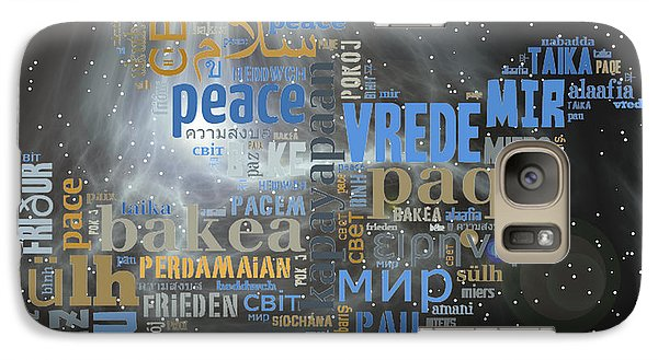 Galaxy Case featuring the digital art Peace Is A Universal Language by Barbara Giordano