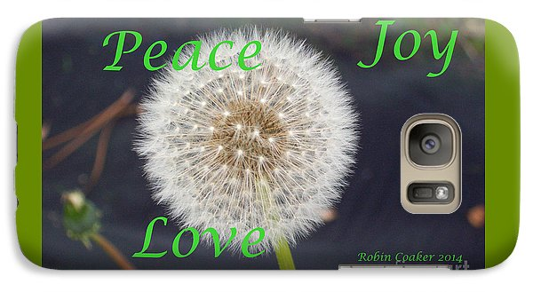 Galaxy Case featuring the photograph Peace Joy And Love by Robin Coaker
