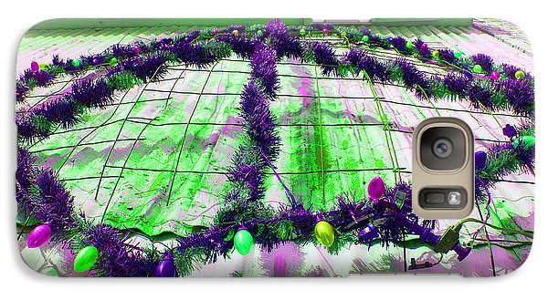 Galaxy Case featuring the photograph Peace Lights 1 by Minnie Lippiatt
