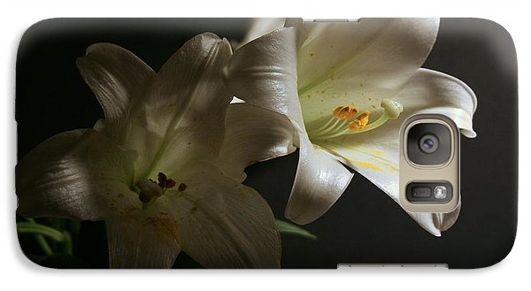 Galaxy Case featuring the photograph Peace Lily by Cathy Harper