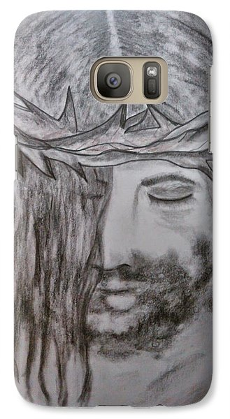 Galaxy Case featuring the drawing Peace by Lori  Lovetere