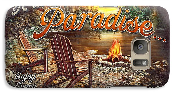 Galaxy Case featuring the painting Peace Of Paradise by JQ Licensing
