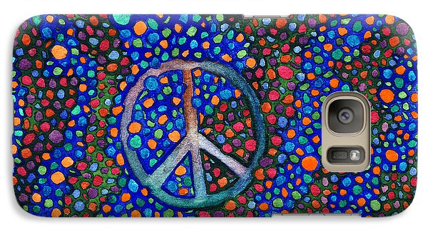 Galaxy Case featuring the painting Peace Sign by Janice Dunbar
