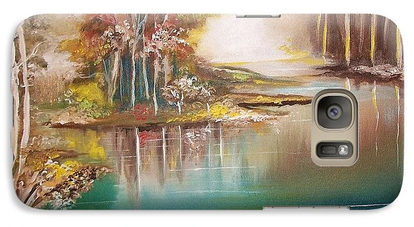 Galaxy Case featuring the painting Peaceful Bayou by Nereida Rodriguez