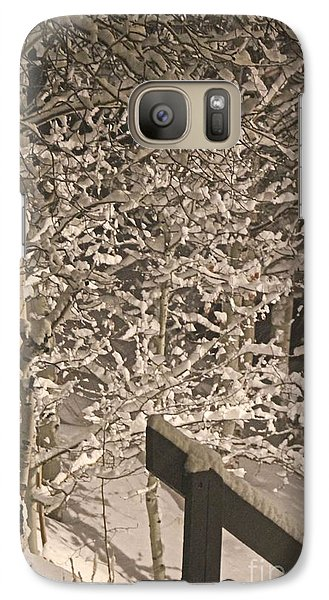 Galaxy Case featuring the photograph Peaceful Blizzard by Fiona Kennard