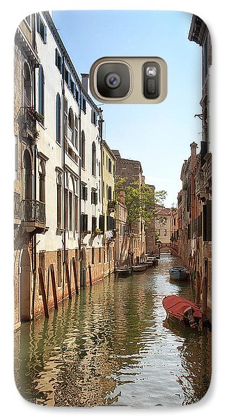 Galaxy Case featuring the photograph Peaceful Canal by Kim Andelkovic