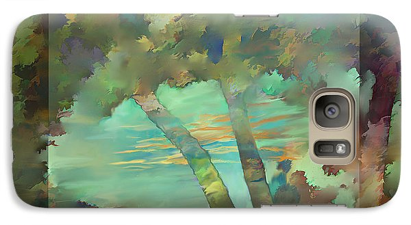 Galaxy Case featuring the digital art Peaceful Dawn by Ursula Freer