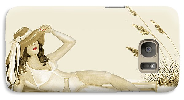 Galaxy Case featuring the painting Peaceful Day by Anne Beverley-Stamps
