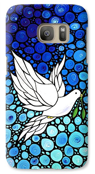 Peaceful Journey - White Dove Peace Art Galaxy S7 Case