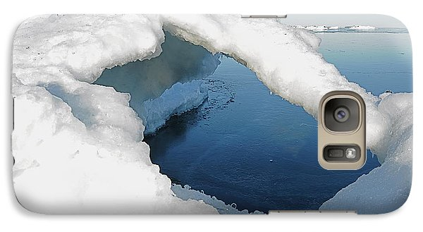 Galaxy Case featuring the photograph Peaceful Lake Superior Ice Arch  by Sandra Updyke
