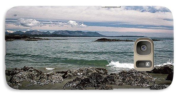 Galaxy Case featuring the photograph Peaceful Pacific Beach by Richard Farrington