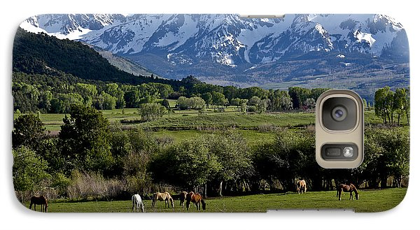 Galaxy Case featuring the photograph Peaceful Pastures by Marta Alfred