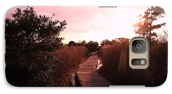 Galaxy Case featuring the photograph Peaceful Path by Karen Silvestri