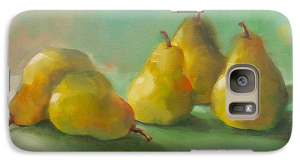 Galaxy Case featuring the painting Peaceful Pears by Michelle Abrams