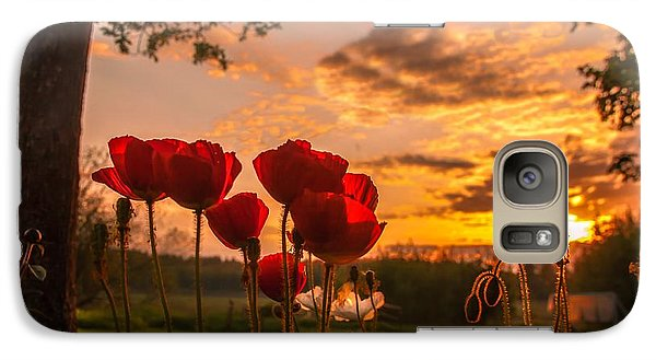 Galaxy Case featuring the photograph Peaceful Poppy by Rose-Maries Pictures