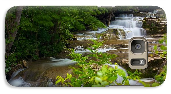 Galaxy Case featuring the photograph Peaceful Stockbridge Falls  by Dave Files