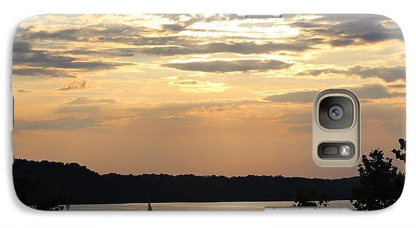 Galaxy Case featuring the digital art Peaceful Sunset by Lorna Rogers Photography