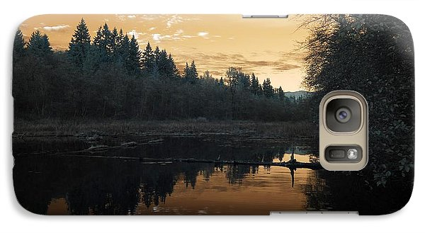 Galaxy Case featuring the photograph Peaceful Sunset by Rebecca Parker