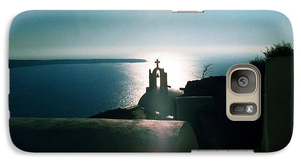 Galaxy Case featuring the photograph Peaceful Sunset Santorini Island Greece by Colette V Hera  Guggenheim