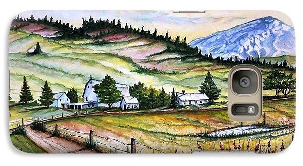 Galaxy Case featuring the painting Peaceful Valley Farm by Richard Benson