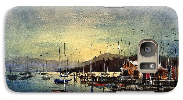 Galaxy Case featuring the painting Peacefully Moored by Tim Oliver