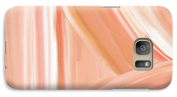 Peach Accent Galaxy S7 Case by Lourry Legarde