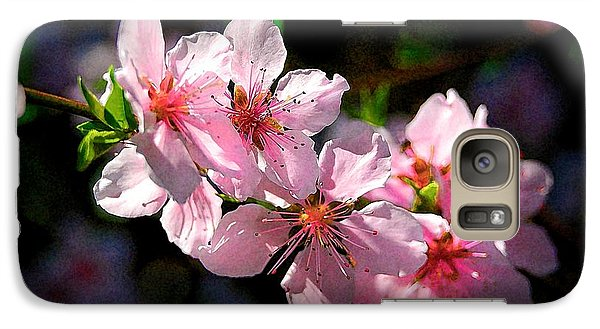 Galaxy Case featuring the photograph Peach Blossoms by Ludwig Keck