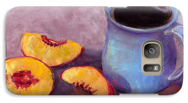 Galaxy Case featuring the pastel Peach Break by Julie Maas