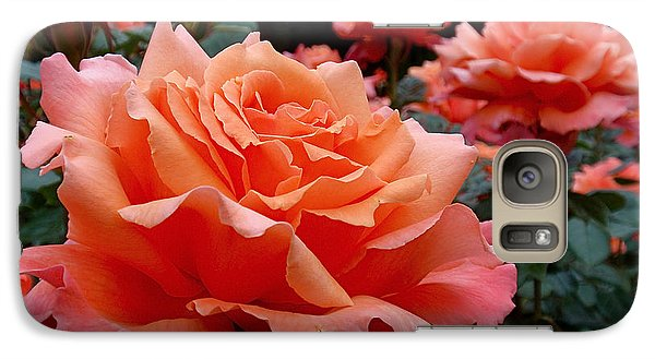 Peach Roses Galaxy S7 Case