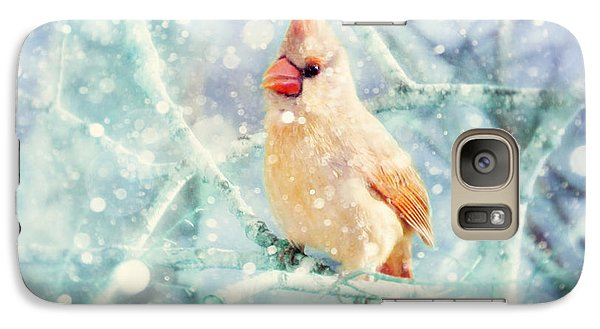 Peaches In The Snow Galaxy Case by Amy Tyler