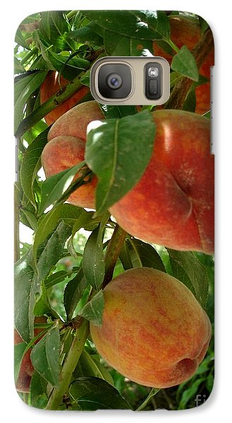 Galaxy Case featuring the photograph Peaches On The Tree by Kerri Mortenson
