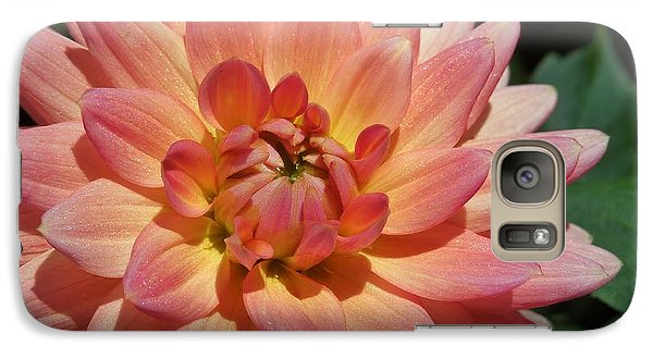 Galaxy Case featuring the photograph Peachy Dahlia by Chad and Stacey Hall