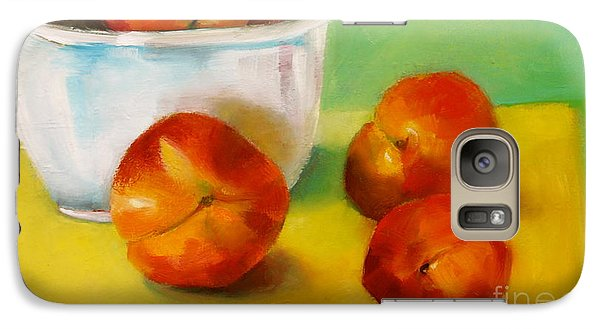 Galaxy Case featuring the painting Peachy Keen by Michelle Abrams